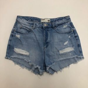 Garage High Waisted Distressed Festival Shorts 9
